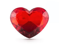 Κόκκινος πολύτιμος λίθος καρδιών στοκ εικόνες