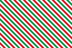 Κόκκινος-πράσινα λωρίδες στο άσπρο υπόβαθρο Στοκ Φωτογραφία