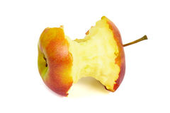 Κόκκινος πυρήνας μήλων στην άσπρη ανασκόπηση Στοκ φωτογραφία με δικαίωμα ελεύθερης χρήσης