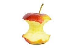 Κόκκινος πυρήνας μήλων στην άσπρη ανασκόπηση Στοκ εικόνες με δικαίωμα ελεύθερης χρήσης