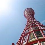 Κόκκινος πύργος λιμένων του Kobe Στοκ Εικόνες