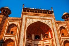 Κόκκινος πύργος Taj Mahal σύνθετος σε Agra, Ινδία στοκ φωτογραφία με δικαίωμα ελεύθερης χρήσης