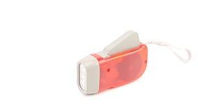 Κόκκινος πλαστικός κάτοχος φακών οδηγήσεων με το σχοινί χεριών Στοκ Εικόνες
