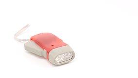 Κόκκινος πλαστικός κάτοχος φακών των οδηγήσεων συμπίεσης χεριών με το σχοινί χεριών Στοκ εικόνες με δικαίωμα ελεύθερης χρήσης