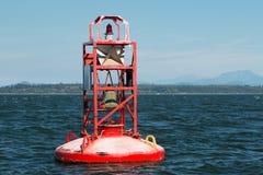 Κόκκινος σημαντήρας κουδουνιών στην εσωτερική μετάβαση Καναδάς Στοκ φωτογραφία με δικαίωμα ελεύθερης χρήσης