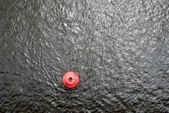 Κόκκινος σημαντήρας στην επιφάνεια νερού Στοκ Εικόνα