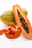 Κόκκινος-σκληραγωγημένο Papaya στοκ εικόνες με δικαίωμα ελεύθερης χρήσης