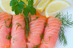 κόκκινος σολομός ψαριών Στοκ Φωτογραφία