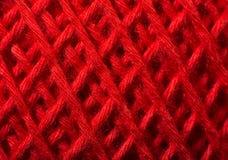 Κόκκινος στενός επάνω νημάτων στοκ φωτογραφίες