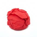 κόκκινος στρογγυλός πετσετών κάτι Στοκ Εικόνες