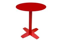 Κόκκινος στρογγυλός πίνακας κουζινών που απομονώνεται στο άσπρο υπόβαθρο Στοκ εικόνα με δικαίωμα ελεύθερης χρήσης