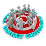 κόκκινος στόχος πελατών Στοκ εικόνα με δικαίωμα ελεύθερης χρήσης