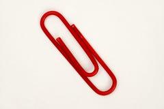 Κόκκινος συνδετήρας Στοκ εικόνα με δικαίωμα ελεύθερης χρήσης