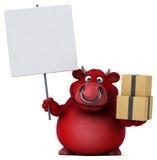 Κόκκινος ταύρος - τρισδιάστατη απεικόνιση Στοκ φωτογραφία με δικαίωμα ελεύθερης χρήσης