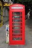 Κόκκινος τηλεφωνικός θάλαμος Βιέννη Στοκ εικόνες με δικαίωμα ελεύθερης χρήσης