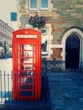 Κόκκινος τηλεφωνικός θάλαμος στοκ φωτογραφίες