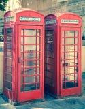 Κόκκινος τηλεφωνικός θάλαμος Στοκ Εικόνες