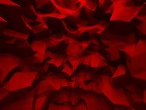 Κόκκινος τοίχος με το χαοτικό σχέδιο ανακούφισης poligon abstract backgroun Στοκ Φωτογραφίες