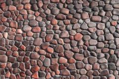 Κόκκινος τοίχος πετρών χαλικιών Στοκ φωτογραφίες με δικαίωμα ελεύθερης χρήσης