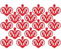 κόκκινος τοίχος προτύπων Στοκ Εικόνα