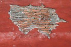 κόκκινος τοίχος τεμαχίων Στοκ εικόνες με δικαίωμα ελεύθερης χρήσης