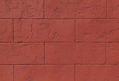 Κόκκινος τοίχος φραγμών της Cinder Στοκ Εικόνα