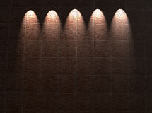 κόκκινος τοίχος φωτισμ&omicro Στοκ Εικόνες