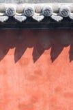 κόκκινος τοίχος Στοκ Εικόνες