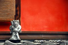 Κόκκινος τοίχος daemon Στοκ Φωτογραφίες