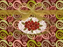 κόκκινος τρύγος στροβίλ&om διανυσματική απεικόνιση