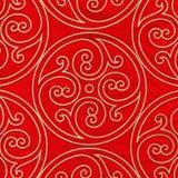 κόκκινος τρύγος υφάσματ&omicr Στοκ Φωτογραφίες
