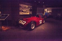 Κόκκινος τύπος 1 της Lancia του 1955 D50 Στοκ Εικόνες
