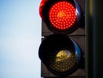 Κόκκινος φωτεινός σηματοδότης στοκ εικόνες