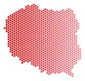 Κόκκινος χάρτης της Πολωνίας σημείων διανυσματική απεικόνιση