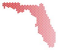 Κόκκινος χάρτης της Φλώριδας σημείων απεικόνιση αποθεμάτων