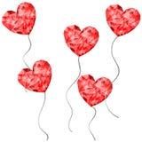 Κόκκινος χαμηλός polygonal καρδιών Στοκ εικόνα με δικαίωμα ελεύθερης χρήσης