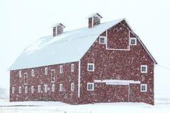 κόκκινος χειμώνας θύελλας σιταποθηκών Στοκ Εικόνες