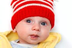 κόκκινος χειμώνας καπέλω& Στοκ εικόνες με δικαίωμα ελεύθερης χρήσης