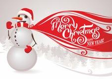 κόκκινος χιονάνθρωπος μ&alpha Στοκ φωτογραφίες με δικαίωμα ελεύθερης χρήσης