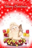 κόκκινος χιονάνθρωπος π&lambd Στοκ Εικόνες