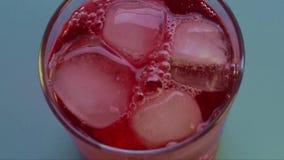 Κόκκινος χυμός απόθεμα βίντεο