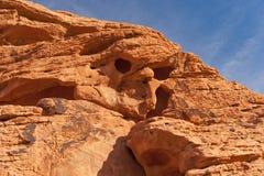 κόκκινος ψαμμίτης βράχου σχηματισμών μοναδικός Στοκ Φωτογραφία