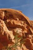 κόκκινος ψαμμίτης βράχου σχηματισμών μοναδικός Στοκ φωτογραφία με δικαίωμα ελεύθερης χρήσης