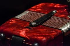Κόκκινος accordian Στοκ φωτογραφίες με δικαίωμα ελεύθερης χρήσης
