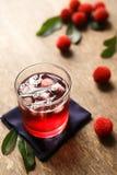 Κόκκινος bayberry με τη σούπα τσαγιού στοκ εικόνες με δικαίωμα ελεύθερης χρήσης