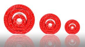 Κόκκινος circle candle spa Στοκ φωτογραφία με δικαίωμα ελεύθερης χρήσης