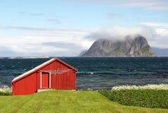 κόκκινος vaeroy σπιτιών Στοκ φωτογραφία με δικαίωμα ελεύθερης χρήσης