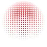 Κόκκινο άνευ ραφής σχέδιο καρδιών στο άσπρο υπόβαθρο, χρήση για την ταπετσαρία, σχέδιο, υπόβαθρο ιστοσελίδας, συστάσεις επιφάνεια Στοκ Εικόνα
