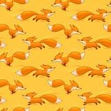 Κόκκινο άνευ ραφής σχέδιο αλεπούδων Στοκ φωτογραφία με δικαίωμα ελεύθερης χρήσης