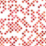 Κόκκινο άνευ ραφής υπόβαθρο σχεδίων αστεριών pentagram - διανυσματικό σχέδιο Στοκ φωτογραφία με δικαίωμα ελεύθερης χρήσης